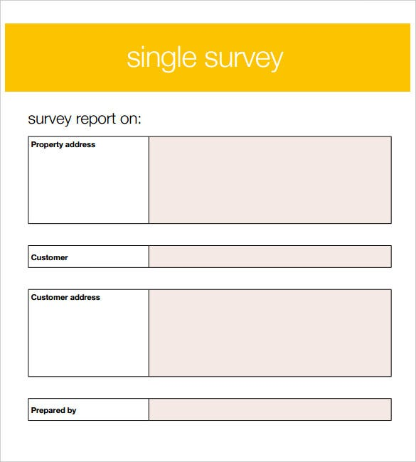 Survey Template   Free Word Pdf Documents Download  Free