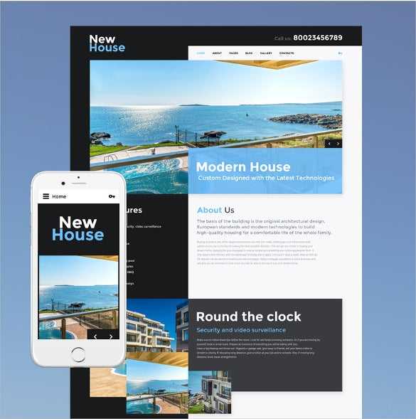 new house real estate joomla template