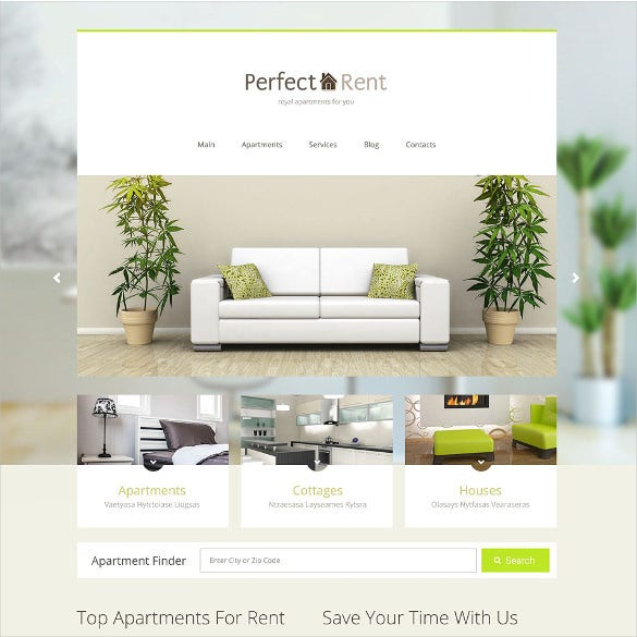 perfect rent real estate joomla template
