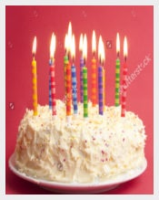 Attractive Birthday Cake With Full Of Candle