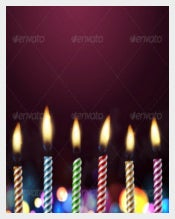 Birthday Background Template With Candle