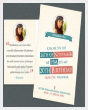 Birthday Postcard Template With Images