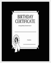 Colorful Background Birthday Certificates