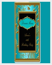 Designed Birthday Menu Cards