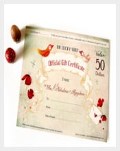Official Gift Certificate For Birthday