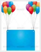 Sky Flying Birthday Banner Templates