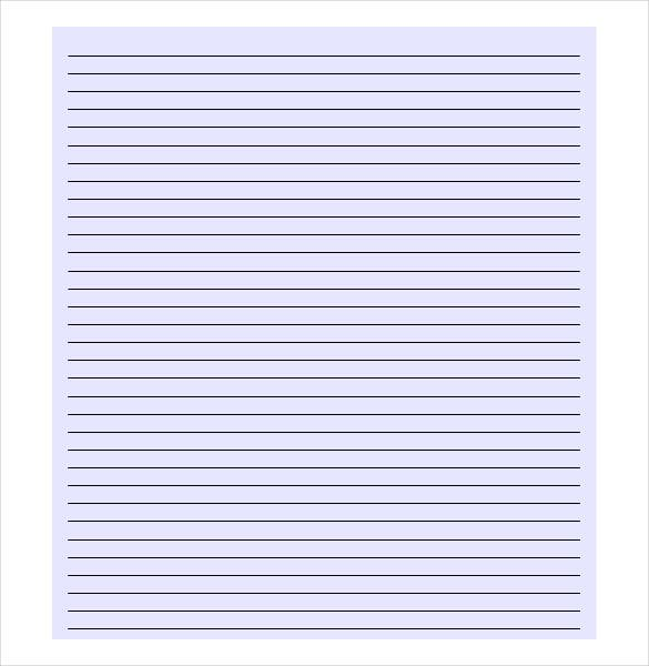Lined Paper Bagroung Example In PDF File  Lined Paper Background For Word