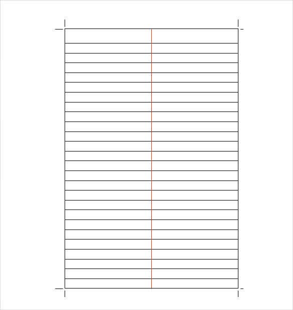 Doc650850 Lined Stationary Paper Free Printable Stationery – Lined Paper Template for Word