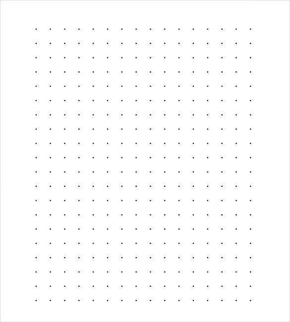 Sample Dotted Line Paper PDF Download  Notebook Paper Word Template