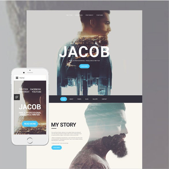 jacob joomla blog template