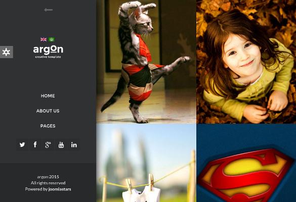 argon creative joomla portfolio blog
