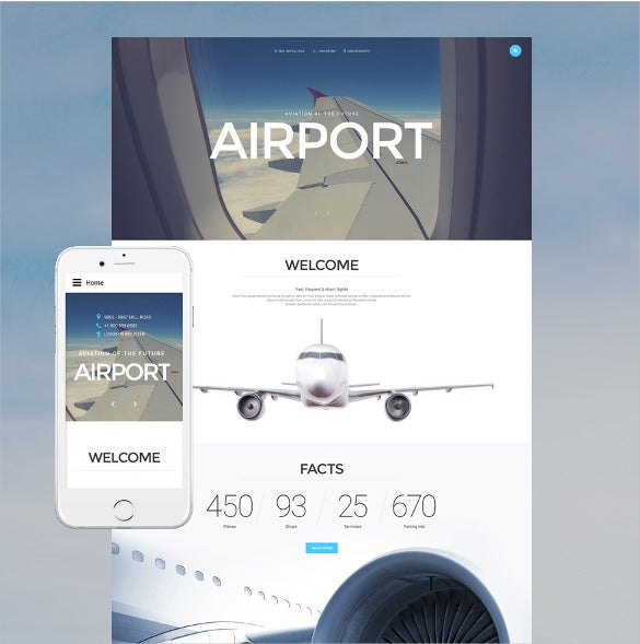 airport joomla blog template