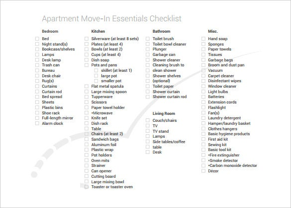 Beautiful Moving Checklist Apartment Photos   Amazing Design Ideas .