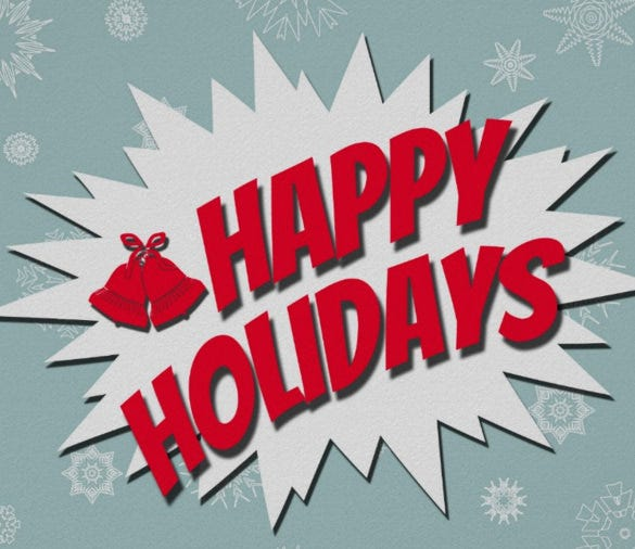happy holidays poster template download
