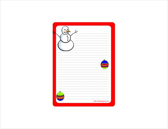 holiday stationary template with snow man