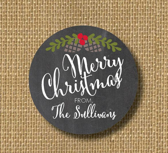 christmas holiday label template download