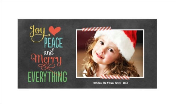 holiday photo greeting card template download