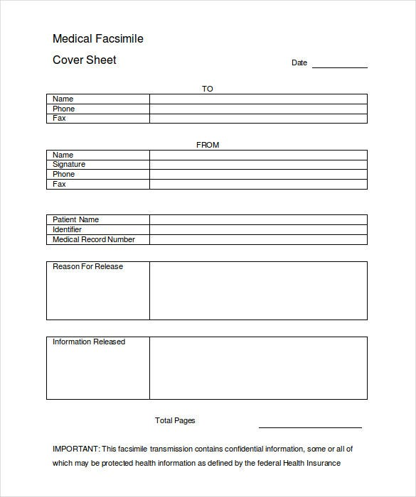 Cover Sheet – 13+ Free Word, Pdf Documents Download! | Free