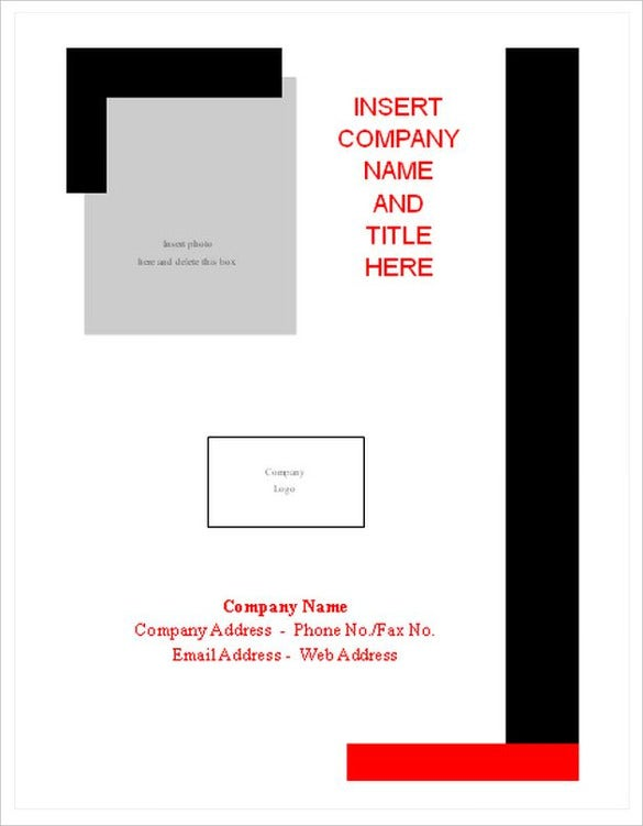 Cover Sheet 13 Free Word PDF Documents Download – Report Cover Page Example