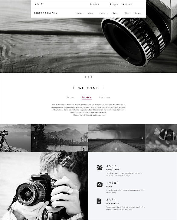 responsive photography drupal website template