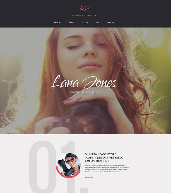 photographer portfolio responsive drupal theme