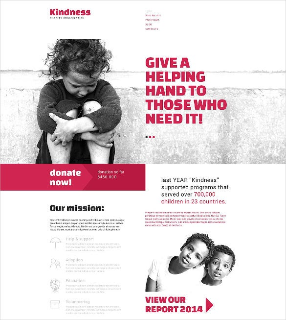 charity organization drupal non profit website template