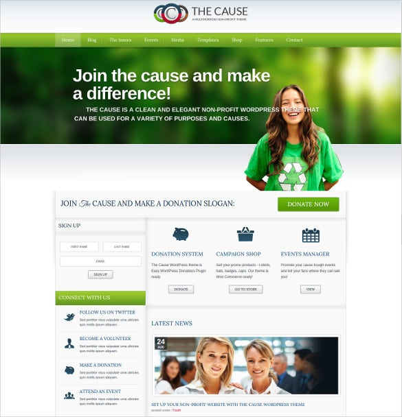 Responsive Multi Purpose Non Profit Website Theme $59  Ngo Templates