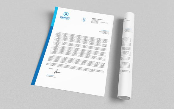 corporate letterhead design template download