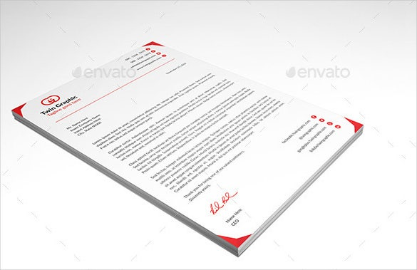 psd format letter design template download