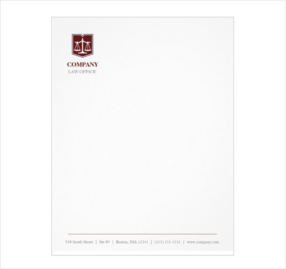 law firm professional letterhead template download