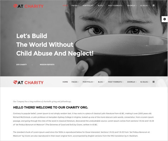 premium charity non profit joomla website template