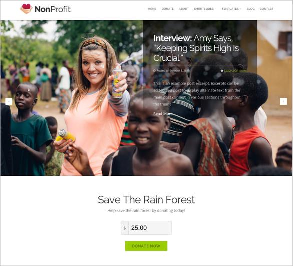 34 non profit website themes templates free premium templates