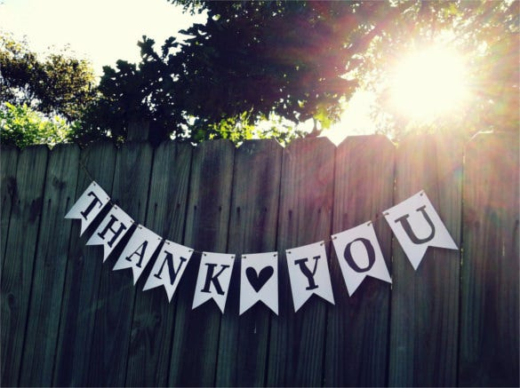 printable thank you pennant flag banner garland