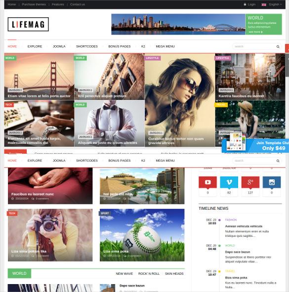 lifemag responsive magazine joomla template