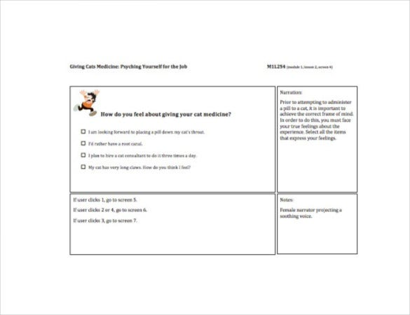 instruction design storyboard template pdf file