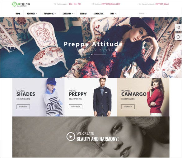 prettty boutique prestashop website theme
