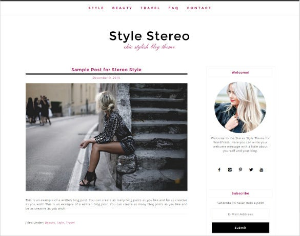 boutique design studio website theme