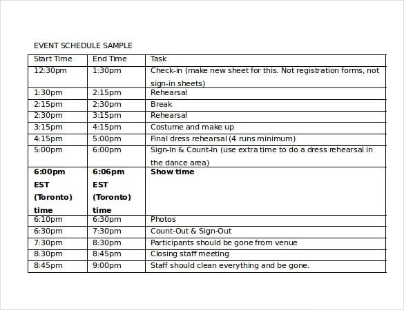 Timetable Template Revision Timetable Template School Timetable – Sample Event Schedule Template