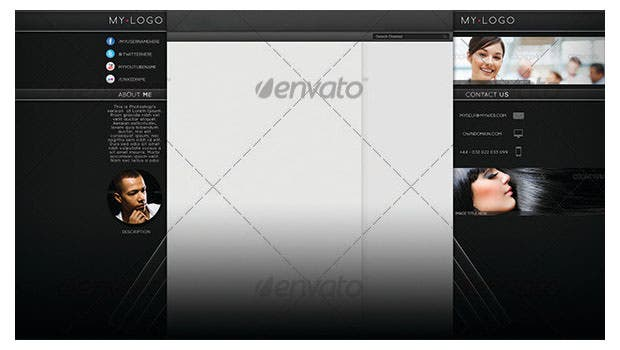 professional youtube channel background psd design download