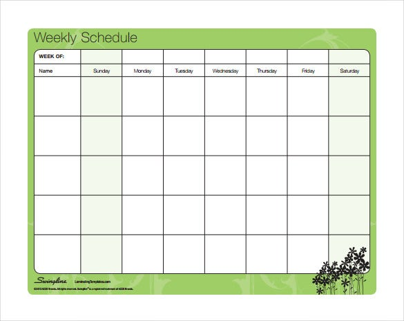 Timetable templates 14 free word pdf documents for Kids weekly schedule template