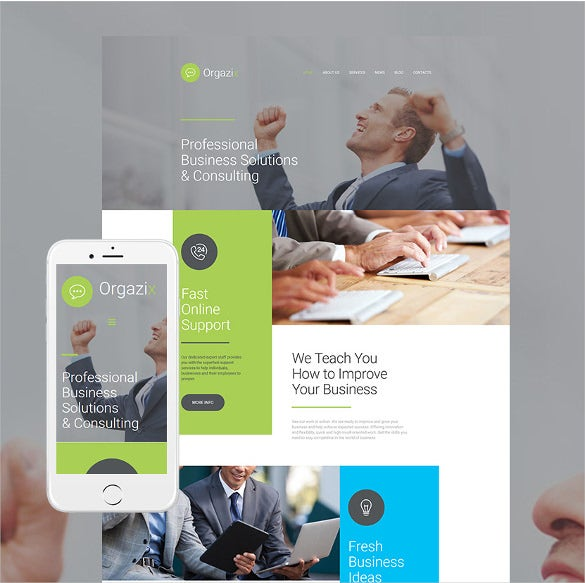 business responsive moto cms 3 php template
