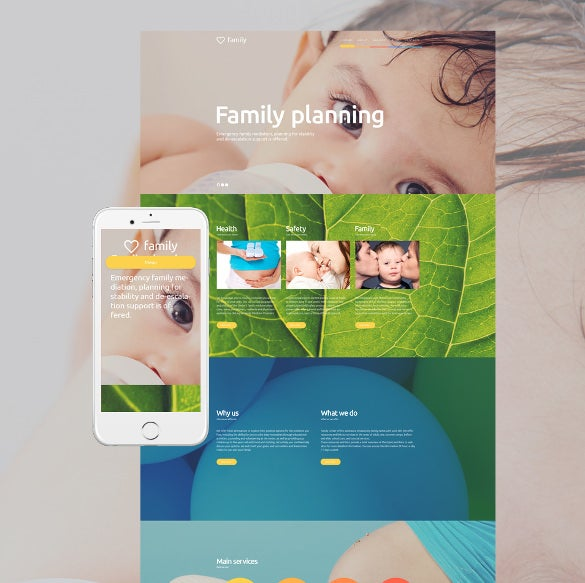family planning wordpress theme