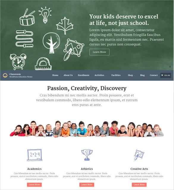 responsive school website wordpress theme