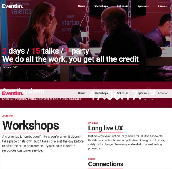 conference event congress wordpress theme