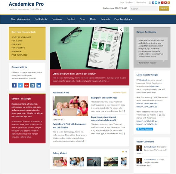 splendid school responsive wordpress website theme