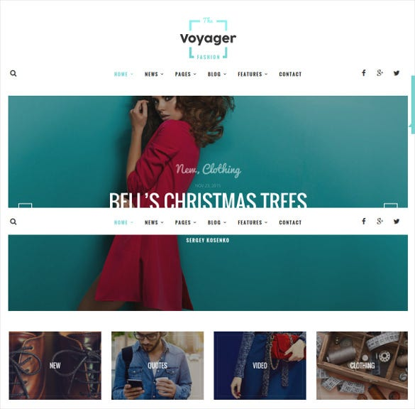 voyager creative blog wordpress theme