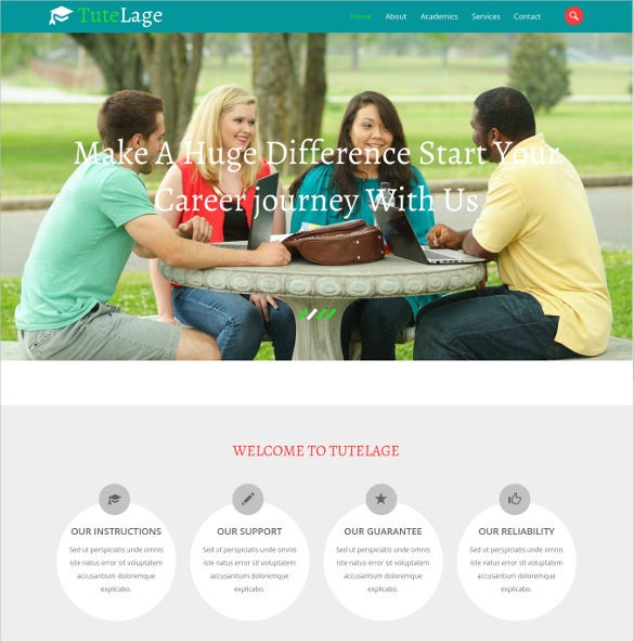 free creative multi purpose school website template