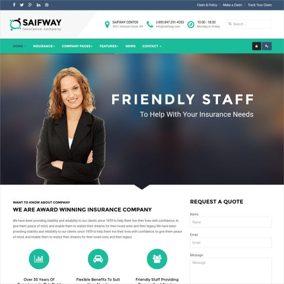 responsive insurance agency joomla template
