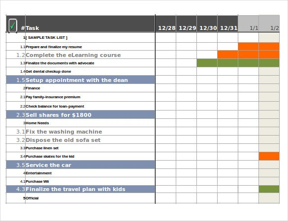 free task tracking template excel file