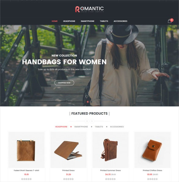 romantic responsive prestashop ecommerce theme